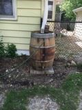 Example of rain barrel placement.