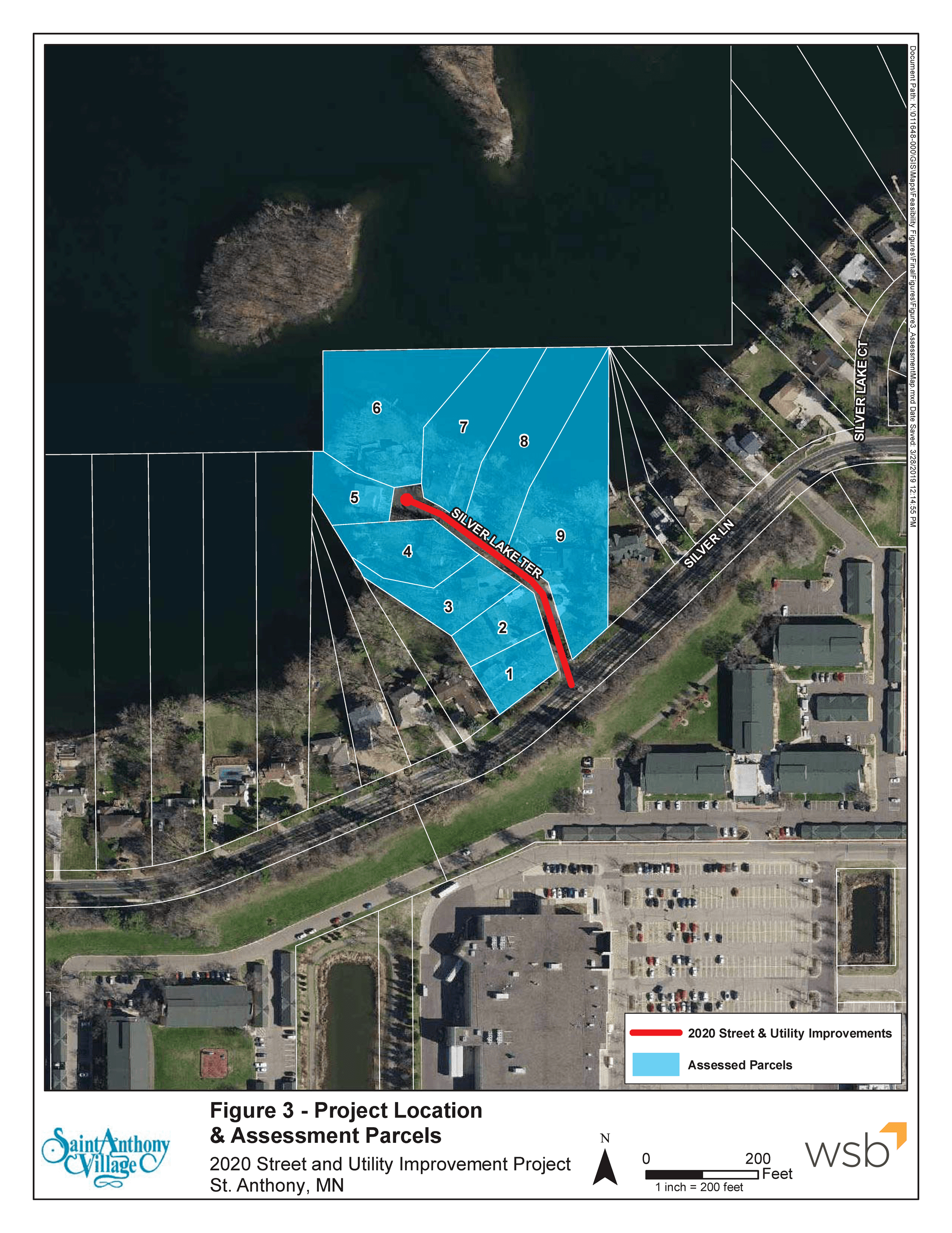 2020 Projects Assessment Parcels Map Silver Lake Terrace