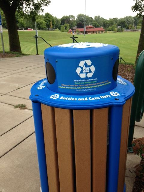 Public City Recycling Bin