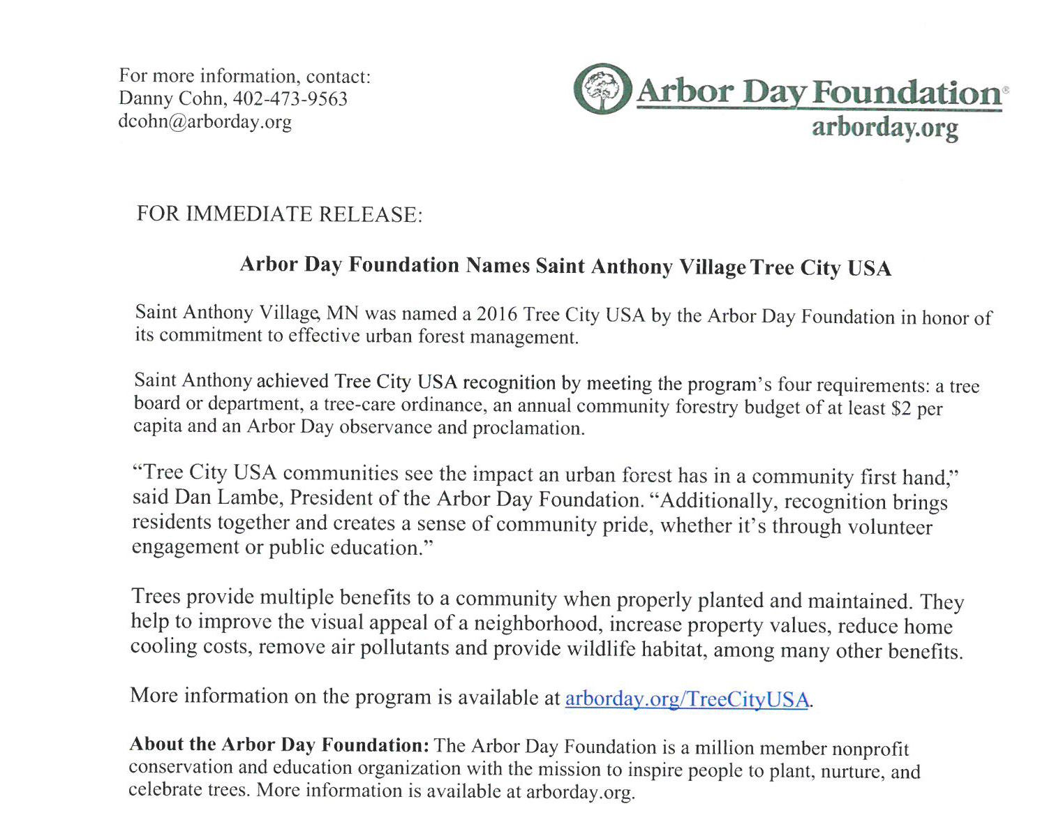 Arbor Day Tree City 2016-cropped