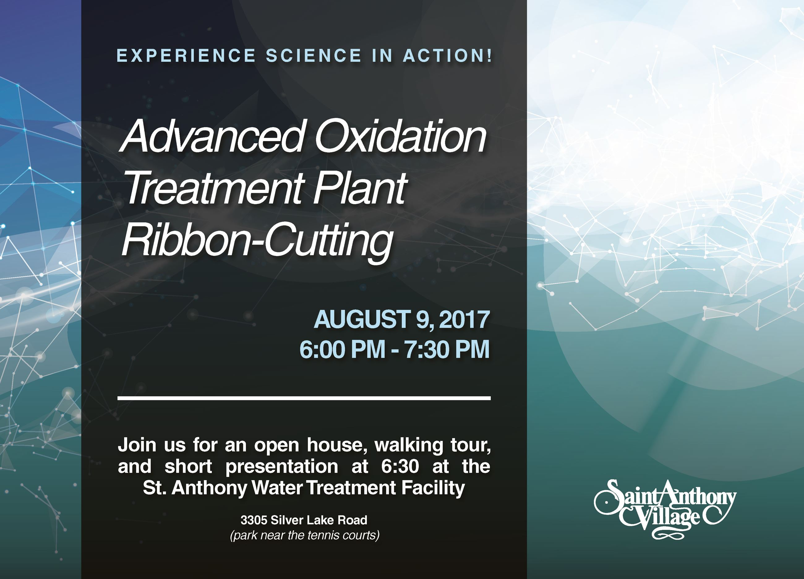 Advanced Oxidation Process  Water Treatment Plant Ribbon-Cutting invite