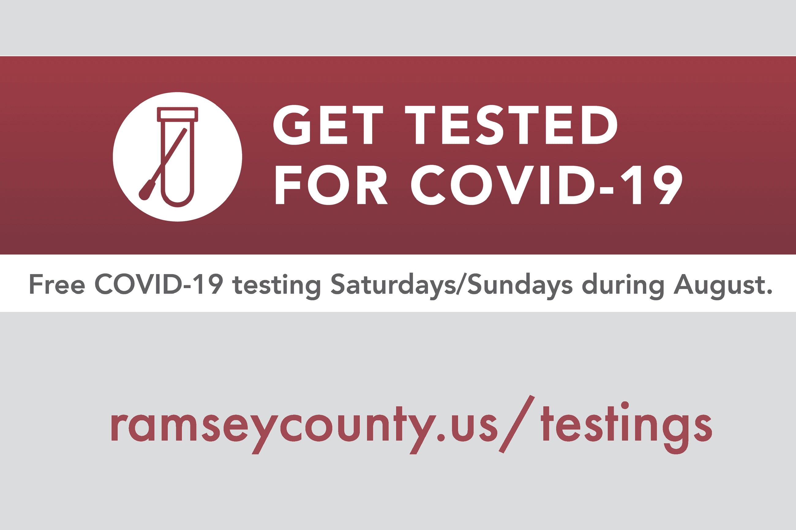 Covid-19 Ramsey County free testing_website graphic Opens in new window